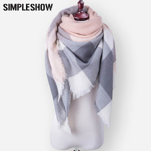 SIMPLESHOW New Winter Scarf Woman Ladies Girls Scarves Luxury Ladies Scarves Wraps Women Warm Shawls For Women Triangle Scarf(China)