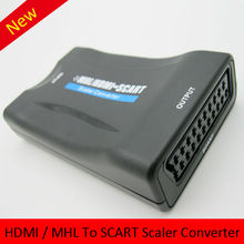 Free Shipping Mini MHL/HDMI To SCART Video Converter Scaler For Computer DVD Monitor Cheap Price