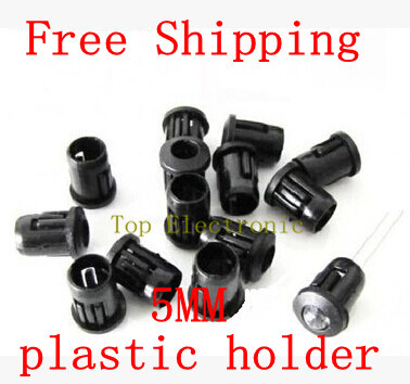 100pcs/lot Plastic 5mm LED Holder Clip Cover Stents Wholesale and Retail in stock(China)