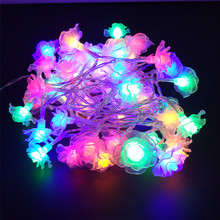 YIYANG 5M Garland Rose Flower Fairy Luces Decorativas String Lights Christmas Guirlande Lumineuse LED Garden Party Decoration(China)