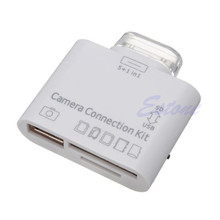 Hot 5 in1 USB Camera SD Card Reader Connection Kit for iPad Good Quality C26
