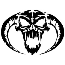 13.5*9.5CM Demon Skull Car Sticker Decal Motorcycle Personalized Car Styling Accessories Reflective Stickers C2-0507(China)