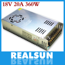 New 18V 20A 360W Switching Power Supply Driver Switching For LED Strip Light Display 110V/220V free shipping