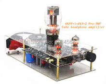 Little Bear clear 6N5P+6N3 Pre-AMP pure valve tube Headphone Amplifier HIFI DIY