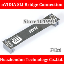 Free Shipping  2PCS/LOT nVidia Card  SLI Bridge PCI-E Graphics  Connector  9CM Bridge connection for Video Card 7CM High Quality