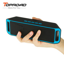 TOPROAD Portable Wireless Bluetooth Speaker 4.0 Caixa De Som Stereo Subwoofer Speakers TF USB FM Radio Mic Dual Bass Sound Box(China)