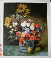 Free shipping Impression flower drawing still life oil painting high-quality Claude Monet oil painting repoduction(China)