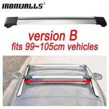 Ironwalls 1x Car Roof Rack Cross Bar 99cm~105cm Top Luggage Cargo With Lock System For Most Vehicles With Raised Side Rails(China)