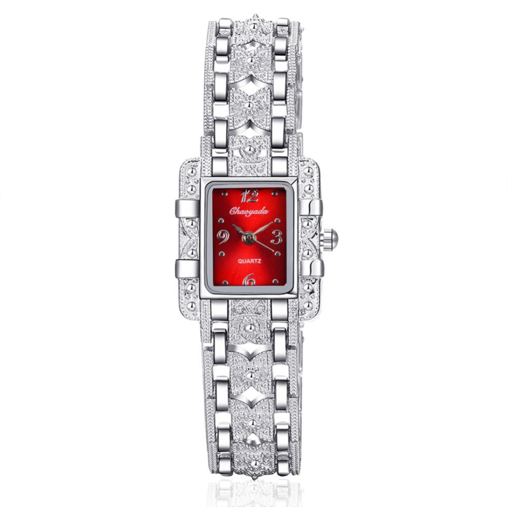 NEW Vintage Women Ladies Royal Fashion Square Dial Silver Stainless Steel Casual Bracelet Rhinestone Dress Watches Time Quartz<br><br>Aliexpress