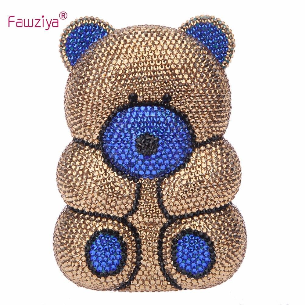 Fawziya Bear Bag Bear Cute Purses With Rhinestones Crystal Clutch Bag<br><br>Aliexpress