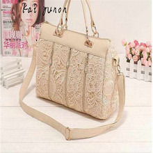 kai yunon Fashion Women PU Leather Messenger Bag Tote Shoulder Bag Lace Handbag Sep 8