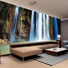 Large 3D Wall Stickers Cliff Water Falls Art Wall Mural Floor Decals Creative Design for Home Decor Waterfall Wallpaper Rolls