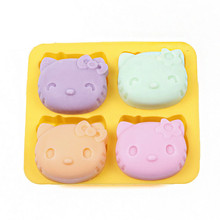Hello Kitty cake mold ice  tray Silicone Mold Soap Candy Mold Sugar Craft Tools Bakeware Chocolate Mold cake decoration GYH
