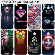 TAOYUNXI Cases For Xiaomi Redmi 4X 5.0 inch Cover Bags Hard Plastic Soft TPU Cell Phone Skin Captain America Painted Shell Hood(China)