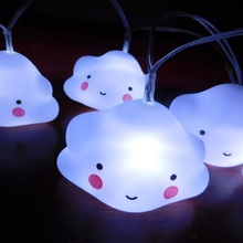 PVC clouds light festival LED small night light chain Party decorations cartoon led twinkle light bar