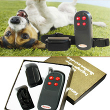 4 In 1 Safe Remote Small Med Dog pet Training Shock Vibrate Collar Trainer