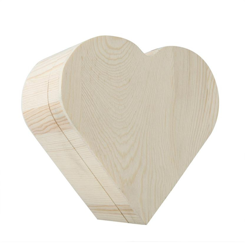 2018 new Fashion Portable Heart Shaped Wooden Storage Box Jewelry Wedding Gift Case Reusable  Box Hot selling good quality C020801