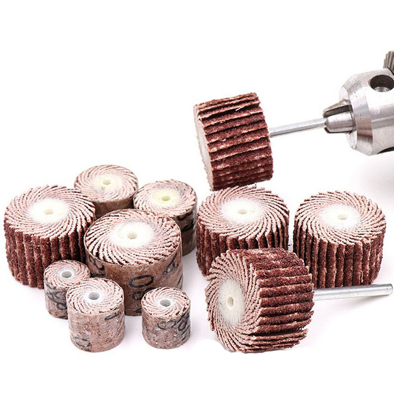 US 10Pcs Sanding Sandpaper Wheel Disc Flap 600 Grit Set For Dremel Rotary Tool