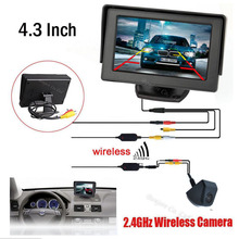 "2.4G Wireless Car 4.3"" TFT LCD vehicle SCREEN Monitor Display CCD Reversing Rearview Camera Parking System Receiver Transmitter"
