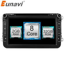 Eunavi Android 6.0.1 Octa Core 2GB RAM Car DVD for VW Passat CC Polo GOLF 5 6 Touran EOS T5 Sharan Jetta Tiguan GPS Radio Seat A