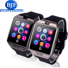 Free shipping DZ09 Q18 Passometer Smart watch with Touch Screen camera SD card Bluetooth smartwatch for Android Phone Men Clock