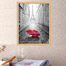 2017 New DIY 5D Diamond Embroidery Painting Cross Stitch Mosaic Red Umbrella Home Decor MAR23_30