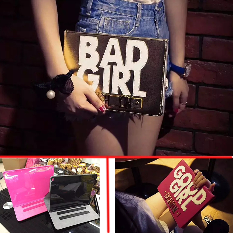 Case For iPad 4 3 2 Ultra Thin Magnetic with Stand PU Leather Retina Good/Bad Girl Smart Cover for iPad 2/3/4 With Free Gift<br><br>Aliexpress