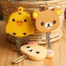 Derlook relaxed bear . circus cartoon soft silica gel key cover keychain wholesale