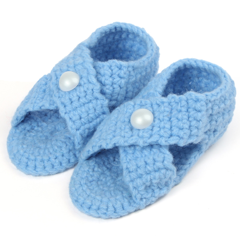 Crochet Knit Cotton Baby Shoes Infant First Walker Shoe For Summer Handmade Toddler Slippers Booties 10pairs XZ021<br><br>Aliexpress