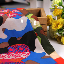 The New Polyester Taffeta Printed Fabric Camouflage Rain Lining Material Children's Clothing Fabrics DIY Handicrafts Fabrics(China)