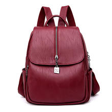 0405396306b4 2019 Модный женский рюкзак высокого качества кожаный рюкзак для девочек- подростков Sac A Dos женская школьная сумка на плечо рюк.