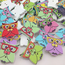 100pc Baby Owl Birds Buttons Kid' Baby Sewing Craft 24*21 mm WB307