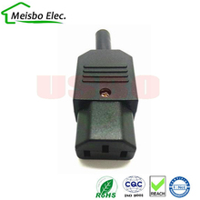 New Wholesale Price 10A 250V Black IEC C13 female Plug Rewirable Power Connector 3 pin AC Socket(China)