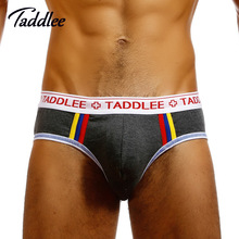 Taddlee Brand Sexy Men Underwear Briefs Bikini Low Waist Designed Men's Underwear Trunks Gay Pouch WJ Man Briefs Cotton