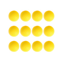 12pcs Golf PU Ball Interior Beginner Training Soft Ball Indoor Outdoor Golfer Club Practice Soft Ball Yellow Color