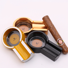 New Fashion 3 colors cigar ashtray aluminum cigar holder high quality cigar accessories tools best gift for men