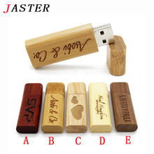 JASTER (over 10 PCS free LOGO) Wooden USB flash drive pen driver wood chips pendrive 4GB 8GB 16GB 32GB memory stick wedding Gift