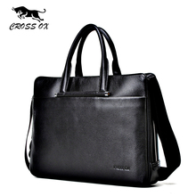 CROSS OX Summer New Arrival Men's Satchel Briefcases Genuine Leather Handbags For Men Satchel Shoulder Bag Portfolio HB552M
