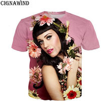 New summer tops fashion t shirt men women singer katy perry 3D printed t- 419019d99548