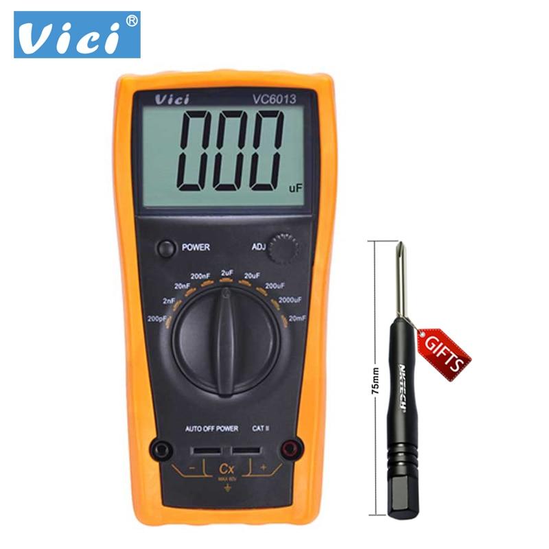VICHY VC6013 Digital Capacitor/Capacitance Multimeter Meter 20mF~200pF B0246<br>