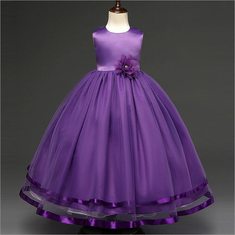 3-14Y Girls Wedding Party Dresses Long Disfraz Princesa Children Mesh Rapunzel Dress Kids Gown Party Dress Costume For Kids Girl<br>