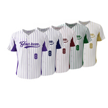 Cool Design Colorful Knitted Breathable Baseball Jersey  For Youth Sports Team Wear Custom Full Buttons Softball Shirt Jerseys