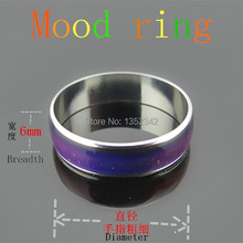 Hot sale Fine jewelry 6mm wide Mood rings classic temperature change color mood ring lovers to buddhist monastic discipline