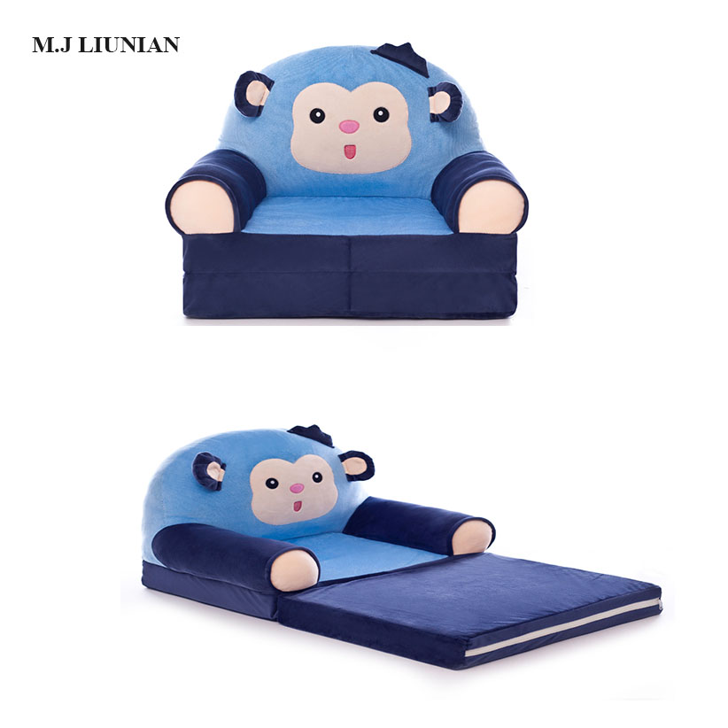 2019 NEWEST Baby Cartoon Sofa Foldable Children Seats Can Lying Sit Kids cartoon chairs with filler baby sofa chair M.J LIUNIAN