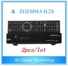 2pcs/lot Super Sale!!! Zgemma H.2S FTA Satellite Receiver Linux OS Enigma2 DVB-S2+S2 Twin Tuners