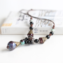 Creative Winter Handmade Sweater Chain Fashion Women Ceramic Necklace Boho Style Colorful Elegant Beads Accessories(China)