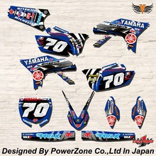 WR YZ YZF 125 250 400 450  Team Graphics Backgrounds Decals Stickers Y70 Motor cross Motorcycle Dirt Bike MX Racing Parts