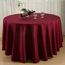 "Big Discount & Factory Price!!! 132"" Dia 10PCS Burgundy ROUND TABLECLOTH BANQUET WEDDING TABLE CLOTH FREE SHIPPING(China)"