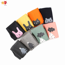AD Fleece Thermal Girls Pants for Autumn Winter Quality Girls Leggings Cute Pattern Trousers Kids Clothes Children's Clothing(China)