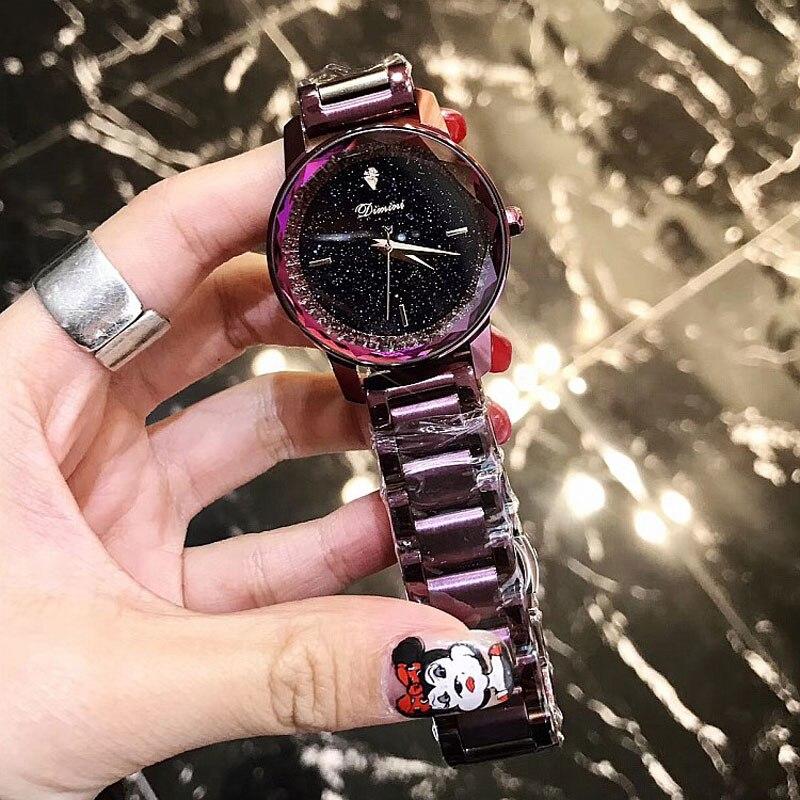 New Brand Rose Gold Women Watch Steel Luxury Ladies Watch Creative Girl Quartz Wristwatch Clock Montre Relogio Feminino 2018<br>